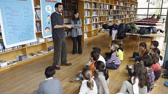 Un momento de taller en la Fundación Rei Afonso. (Foto: David Rodriguez)